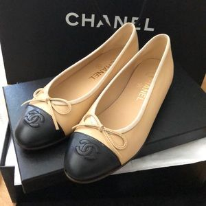 Chanel ballerina shoes size 37